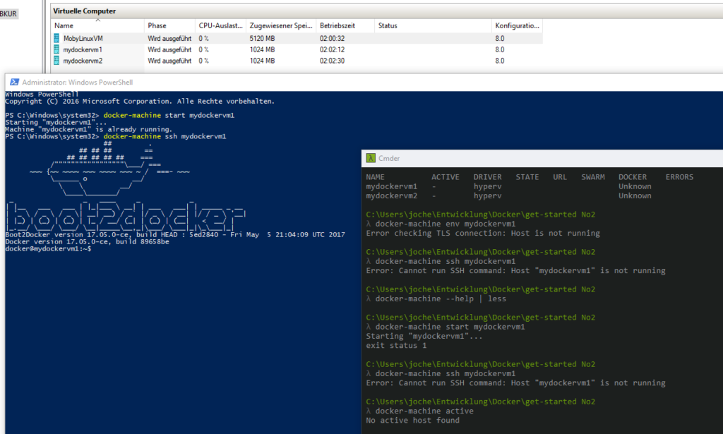 docker-machine unter Windows 10