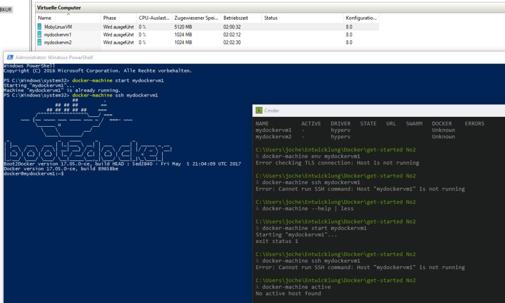 docker-machine unter Windows 10