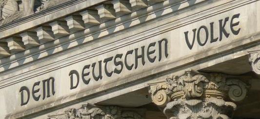 Dem Deutschen Volke - Schriftzug